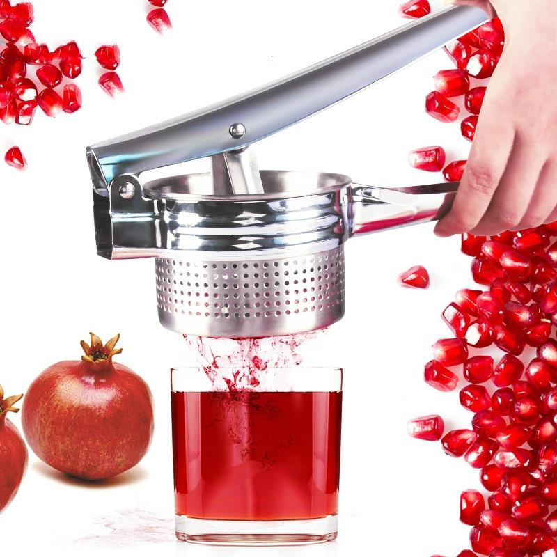 Exprimidor Manual de acero inoxidable portátil granadina limón naranja prensa fruta exprimidor larga vida útil ayuda de cocina