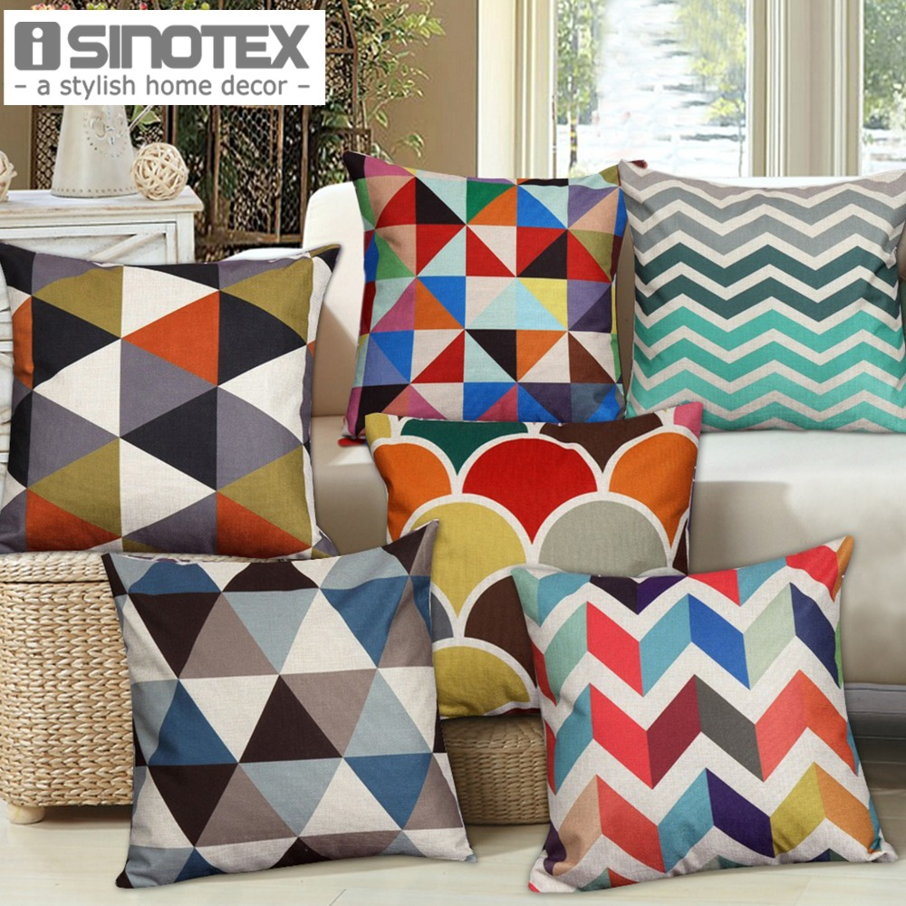 1 Pcs Nordic Vintage Cushion Cover Colorful Plaid Geometric Cushions For Sofa Seat Luxury Home Decor