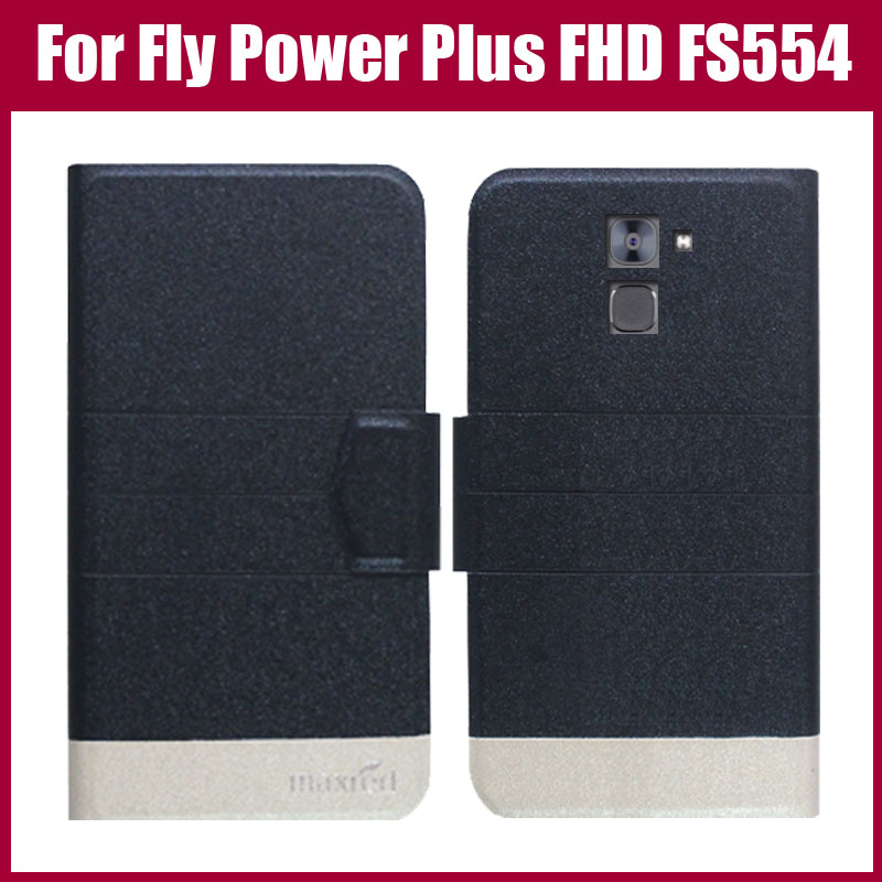 Hot Sale! Fly Power Plus FHD FS554 Case High Quality 5 Colors Fashion Flip Ultra-thin Leather Protective Cover Phone Bag image
