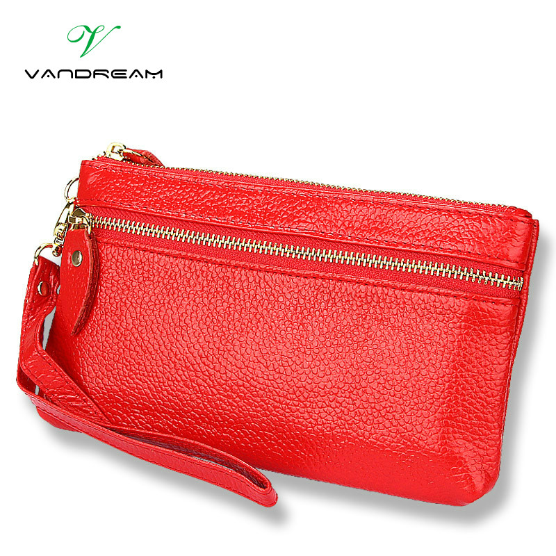 Genuine Leather New Fashion Women Coin Purse Long Clutch Bags Wallets Wristlet Leather Zipper Change Cowhide Handbag Candy Color high quality omnidirectional multi line laser barcode scanner yk 8120 20 scan lines with usb2 0 free shipping for pos usb