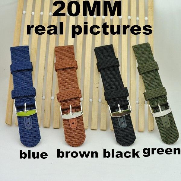 도매 100 개/몫 고품질 20mm 나일론 시계 밴드 나토 스트랩 방수 시계 스트랩 wbz002-에서워치 밴드부터 시계 의  그룹 1