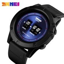 SKMEI patentli tasarım Mens izle moda kuvars saatler su geçirmez büyük arama PU kayış kol saatleri reloj hombre 1546 izle erkekler