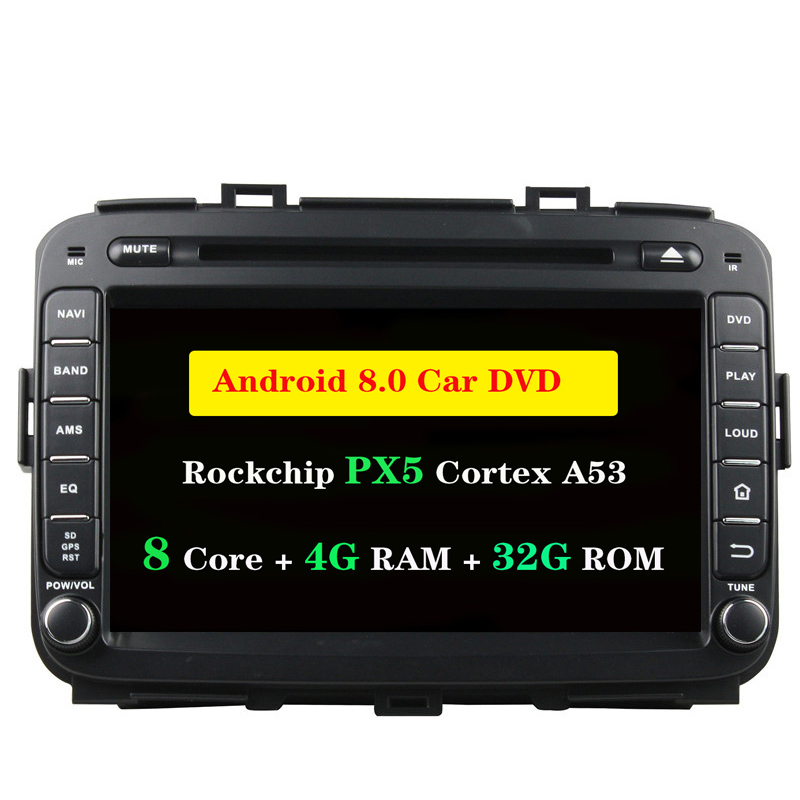 Ectwodvd 4G RAM 32G ROM Octa Core Android 8.0 Car DVD For KIA Carens 2013 2014 2015 Radio Stereo CD Play GPS Navigation