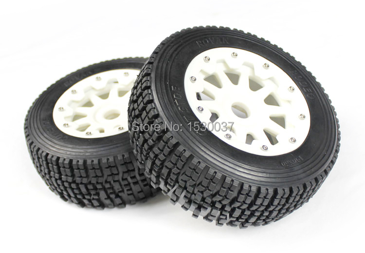 1 5 rc car racing parts Baja 5SC high strength nylon front wheel X 2 tire