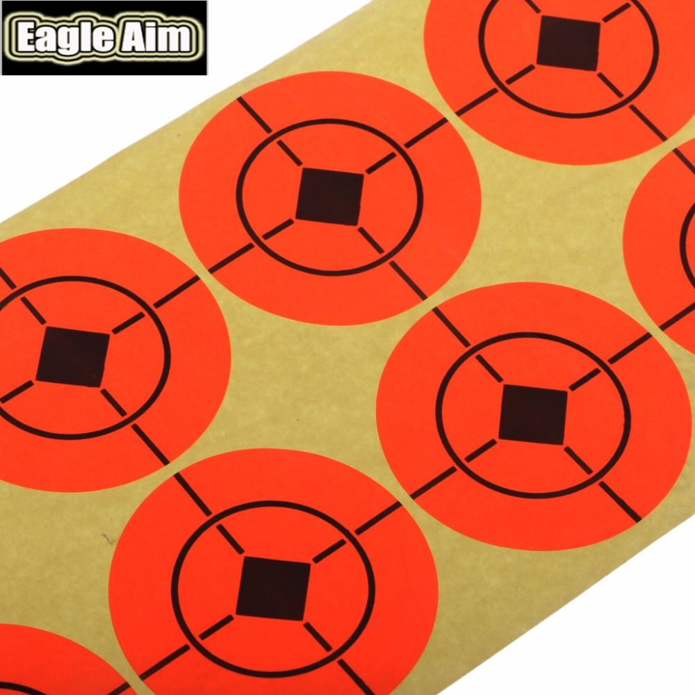 Image 2 - 2 Inchx 500pcs Shooting Target Paper Orange Florescent Self Adhesive Targets Stickers for Airsoft BB Gun Shooting Targets-in Paintball Accessories from Sports & Entertainment