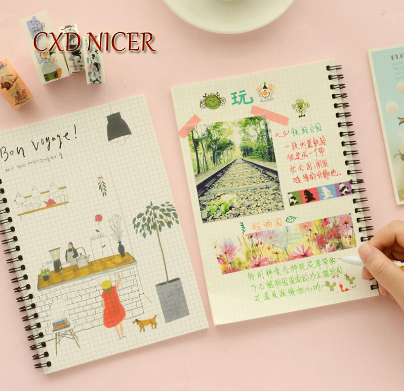 CXD Nicer 1pcs A5 Coil Creative Grid Universe Notebook Notepad Diary Writing Paper Memorandum School Supplies DD2430