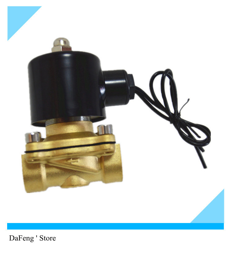 Copper Solenoid Valve G1/2 2w160-15 Normally closed for Water ,Electronic valve water valve 220V ac 18w copper plastic 1 2 electric actuator solenoid valve black golden ac 220v