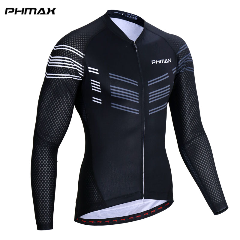PHMAX 2018 New Long Sleeve Cycling Jersey 100% Polyester Maillot Ropa Ciclismo Mountain Bike Clothing MTB Bicycle Wear
