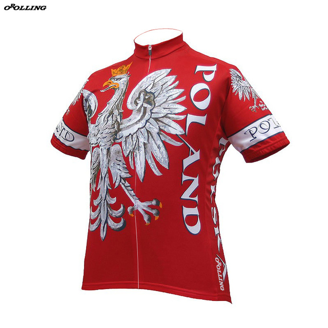New 2018 Poland Team Cycling Jersey Customized Road Mountain Race Top Classical OROLLING