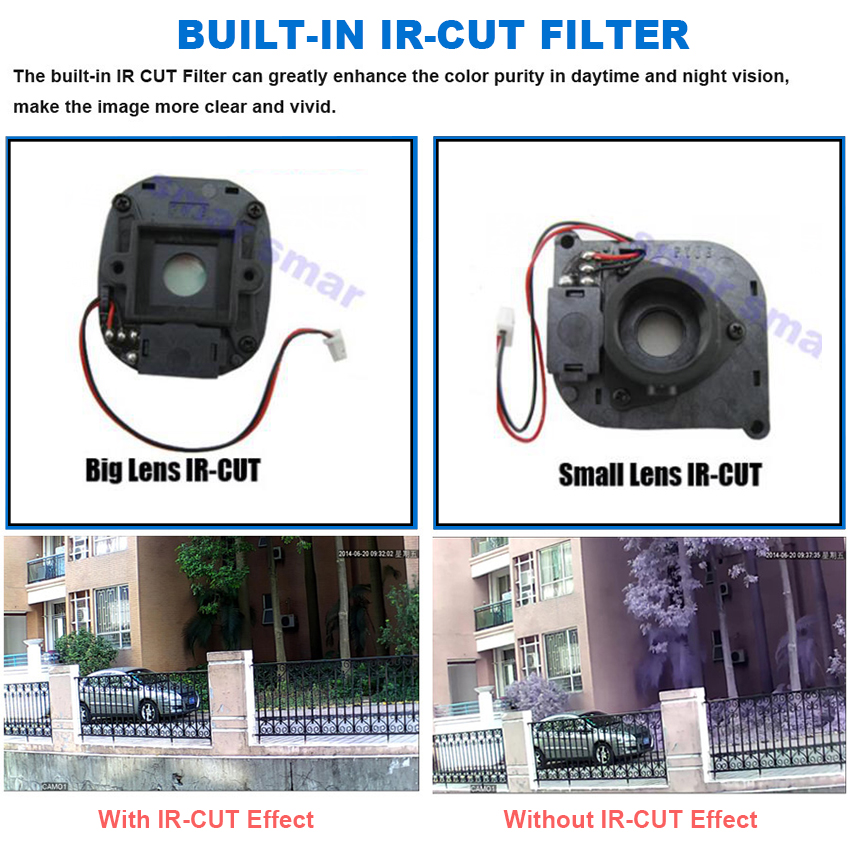 Image 3 - Smar Security CCTV 720P 1080P AHD Camera Outdoor Waterproof Bullet Cameras Day & Night Surveillance HD 3.6mm Lens IR CUT-in Surveillance Cameras from Security & Protection
