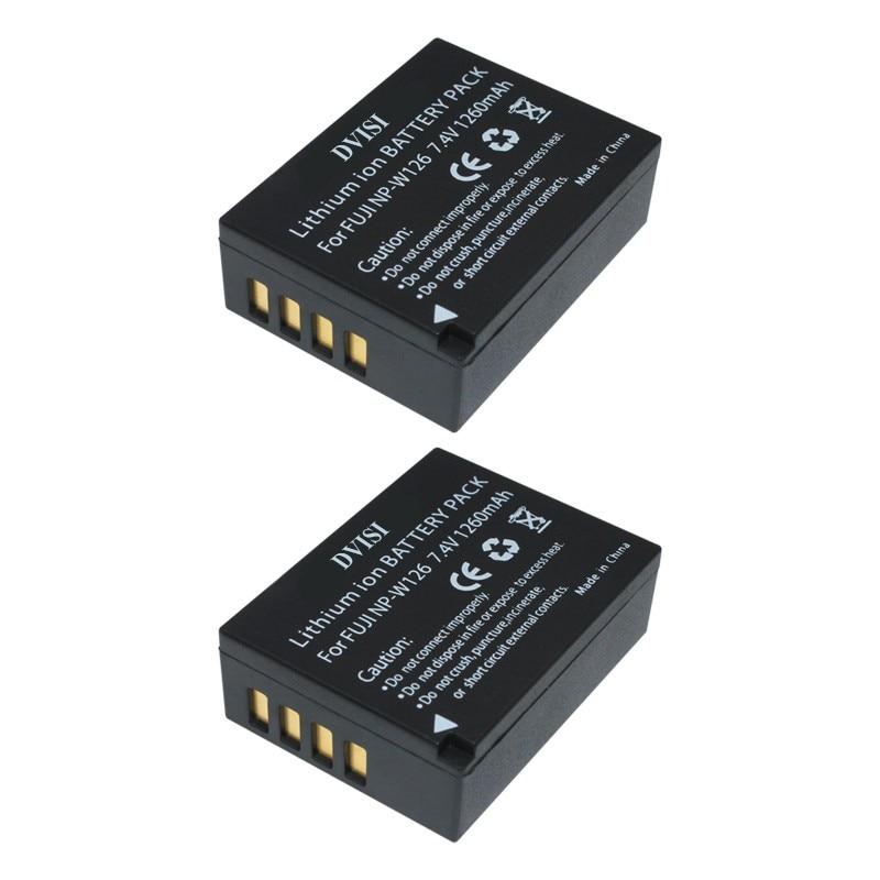 2Pcs/lot NP-W126 W126 NPW126 Camera Battery for Fujifilm FinePix HS30EXR HS33EXR X-Pro1 X-E1 X-E2 X-M1 X-A1 X-A2 X-T1 X-T10