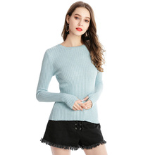 2019 New XL ladies Sweater Knit Pullover Knitted Solid Color Leisure Loose O-neck Korean Womans Fashion Thin Soft Sweaters top