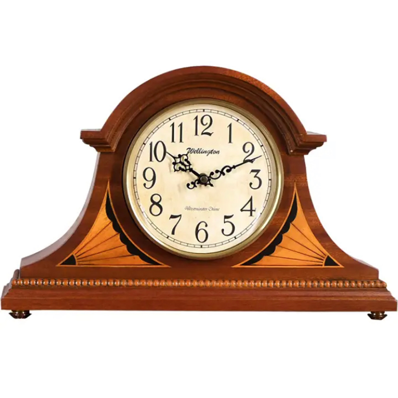 Horloge de style Antique de carillon de Westminster, horloge de table vintage européenne, décor à la maison chic en bois, horloges de bureau de récipient