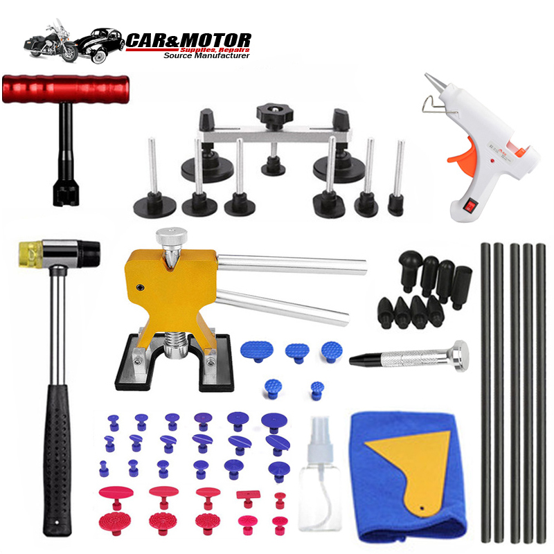 Tools Vehicle Dent Repair Car Body Dents Car Dent Repair Tools Puller Suction Cups Glue Gun Reverse Hammer Hand Tool