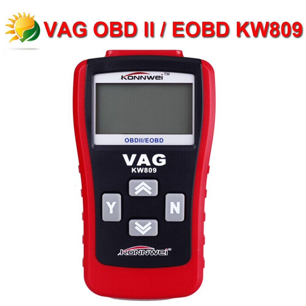 KONNWEI KW809 Multifunction Scanner VAG OBD2/EOBD Code Card Reader Reading decoder For VW Audi Skoda Scanner Free Shipping