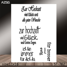 AZSG Special Phrase Clear Stamps/Stamp/For Scrapooking/Card Making/Silicone Stamps/Decoration  Crafts