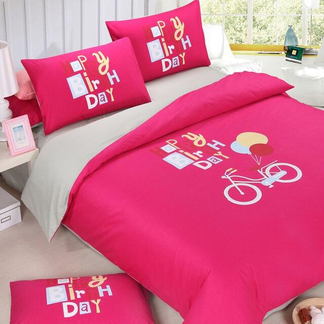 Rosa Tröster Luxus Bettbezüge Twin Bett Bettdecken Schöne Bettwäsche