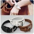 2015 Fashion New Style Fashion Belt Buckle Style Leather Bracelet Male Female PU Bracelets, Leather Bracelets Bangles