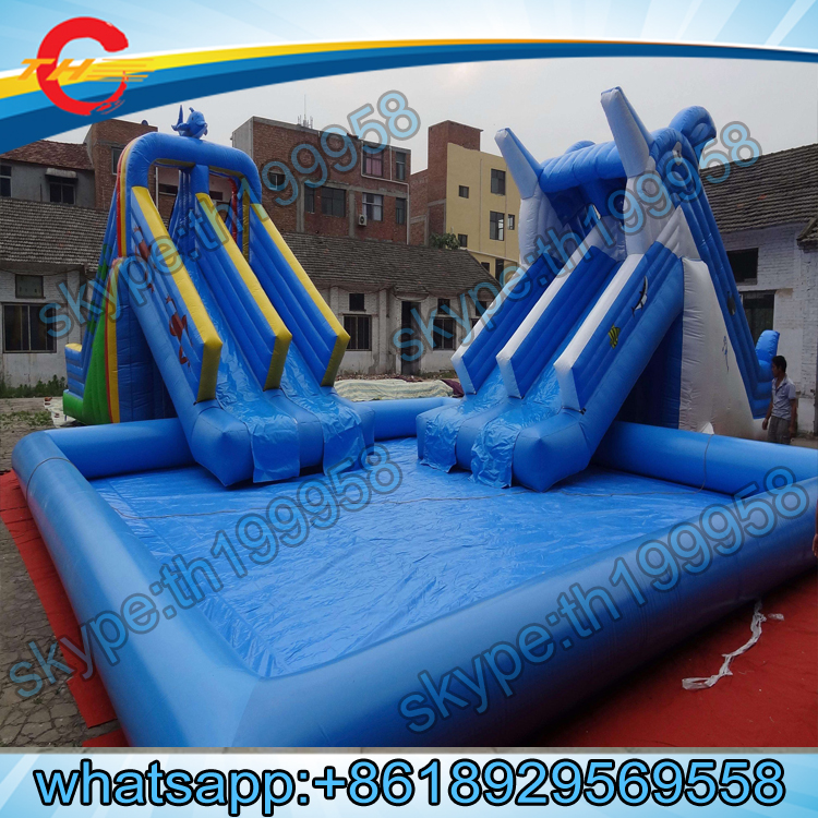 free sea shipping to portdolphinfrog inflatable slide for poolinflatable water