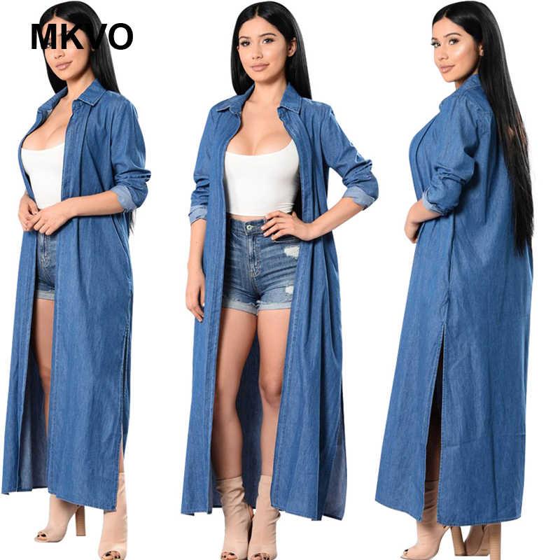 Классическая Весенняя и Летняя женская джинсовая ветровка с длинными рукавами кожаная куртка модное синее пальто для женщин кардиган джинсовая курточка