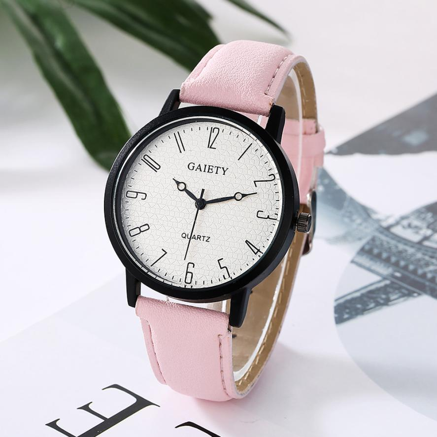 2018 New Famous Brand GAIETY Women Fashion Leather Band Analog Quartz Round Wrist Watch Watches Relogio Feminino Clock 2017 new brand fashion quartz watch famous women black and white gril clock leather strap watches relogio feminino lz710