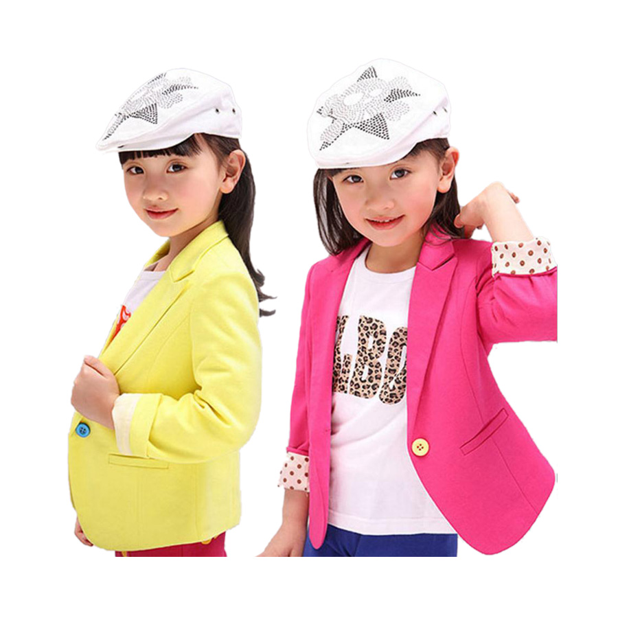 fashion girl blazer causal coat classic solid blazer jacket for 3-12yrs girls kid children outdoor coat clothes hot sale