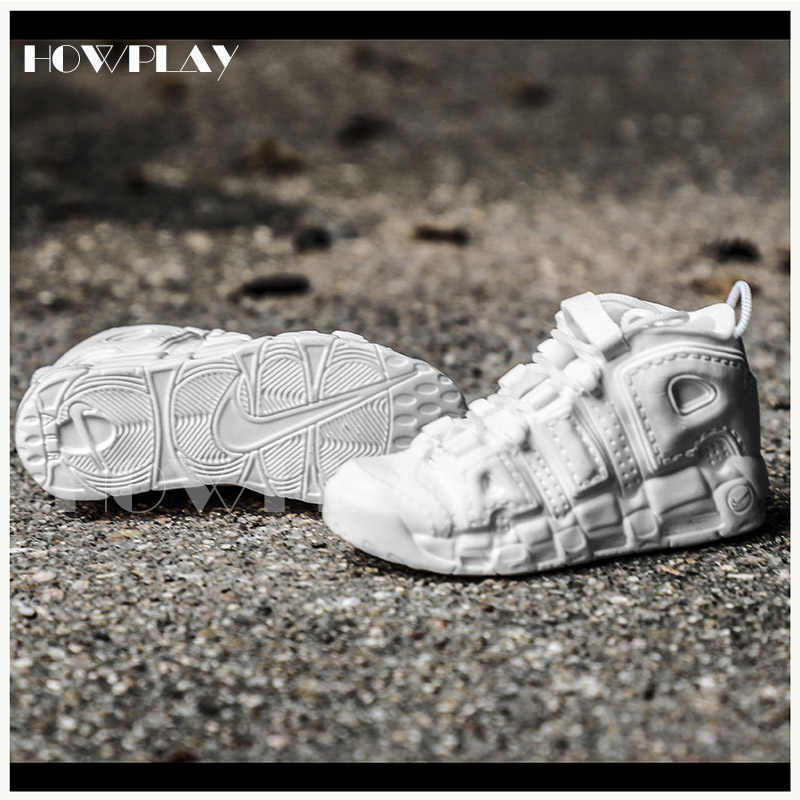 quality design f3ce5 22fdc ... Howplay AIR UPTEMPO model sneaker keychain 3D mini basketball shoes  model backpack pendant keyring creative gift ...