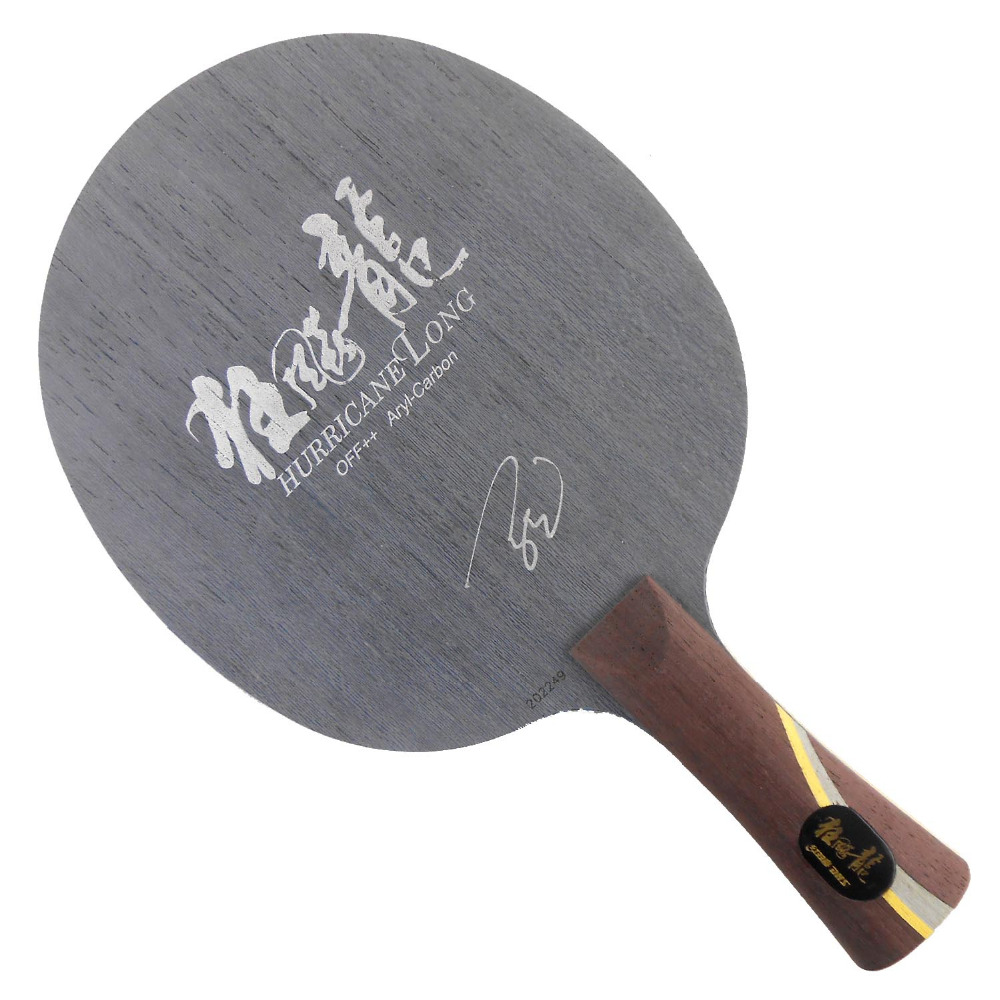 DHS Hurricane Long Arylate-Carbon OFF++ Shakehand Table Tennis Blade (Shakehand) for PingPong Racket