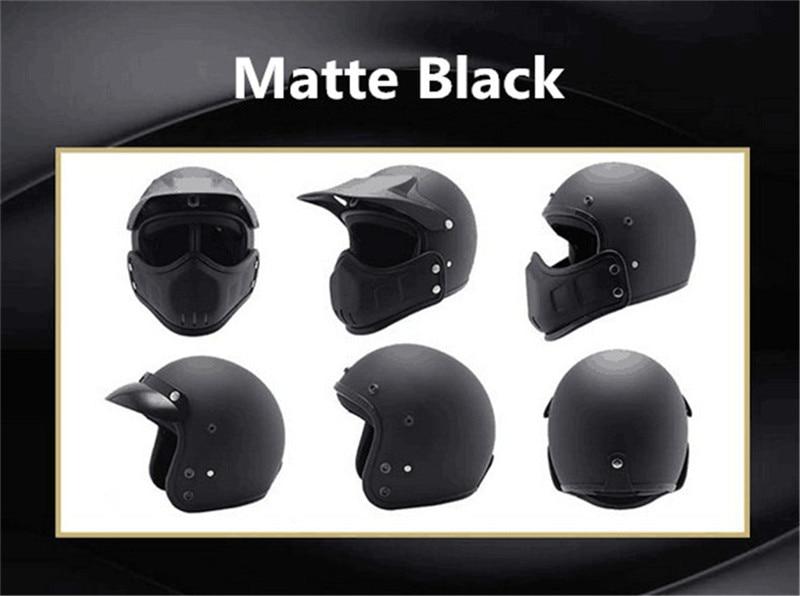 Motocross casco Maschera Staccabile Occhiali E la Bocca Filtro Perfetto per Aprire Viso Motociclo Casco Mezzo Vintage Caschi - 5