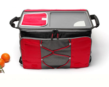 branded big capacity thermal folding cooler bag picnic lunch box insulated cool handbags ice pack vehicle insulation thermo bags