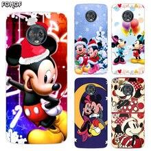 Silicone Hull Shell Back Case For Motorola MOTO G5 G5S G6 G4 E4 E5 Plus X4 Riverdale Cover Christmas Mickey Minnie