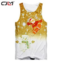 CJLM Mens Skateboard Santa Claus Tank Top Man Christmas Snowman Vest 3D Printed Chinese Style Tee Shirt On Sale(Hong Kong,China)