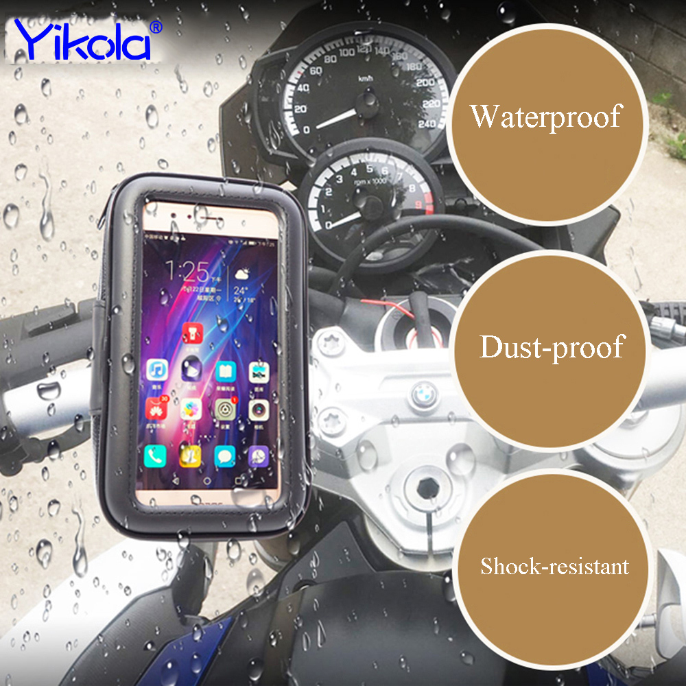 Universal Bike Bicycle Handle Phone Mount Cradle Holder Cell Phone Motorcycle Handlebar Waterproof bag Case For CellPhone
