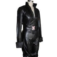 Avengers Black Widow Costume Women Natasha Romanoff Cosplay Adult Captain America Superhero Faux Leather Catsuit Wholesale