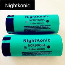 цена High Quality  Nightkonic 2 Pieces  26650  Battery 3.7V 5000mAh Li-ion Rechargeable Battery For LED Flashlight Torch онлайн в 2017 году