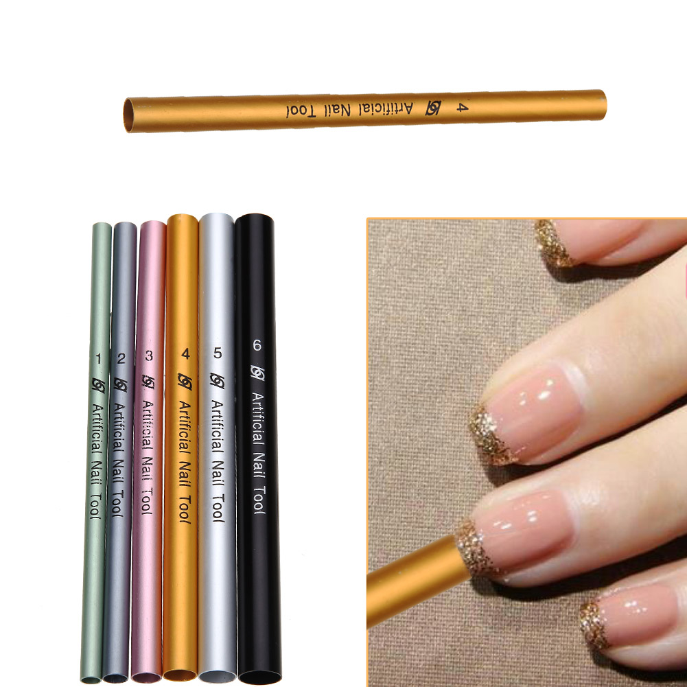 Hot Sale 6pcs French Acrylic Nail Art Tips Shaping C Curve Rod