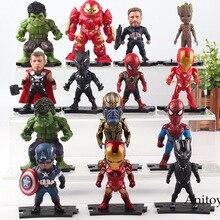 Мстители Marvel фигурки героев Железный человек танос Капитан Америка Халк халкбастер дерево человек Тор Черная пантера фигурка Человека-паука игрушечные лошадки