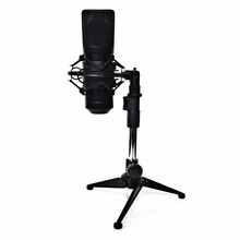 FREEBOSS FB-W02 Professional Wired Condenser Microphone Recording Microphone USB Computer Microphone with Table Microphone Stand