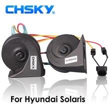 CHSKY آلة تنبيه السيارة الحلزون القرن ل هيونداي سولاريس 2015 12 V بريق 110db بصوت عال آلة تنبيه السيارة عالية منخفضة البوق Claxon الأبواق سيارة  التصميم