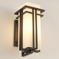 Vintage Waterproof Wall Sconce Outdoor Led Light Fixture with Wall Mount Kit Retro Aluminum Outdoor Light Fixtures