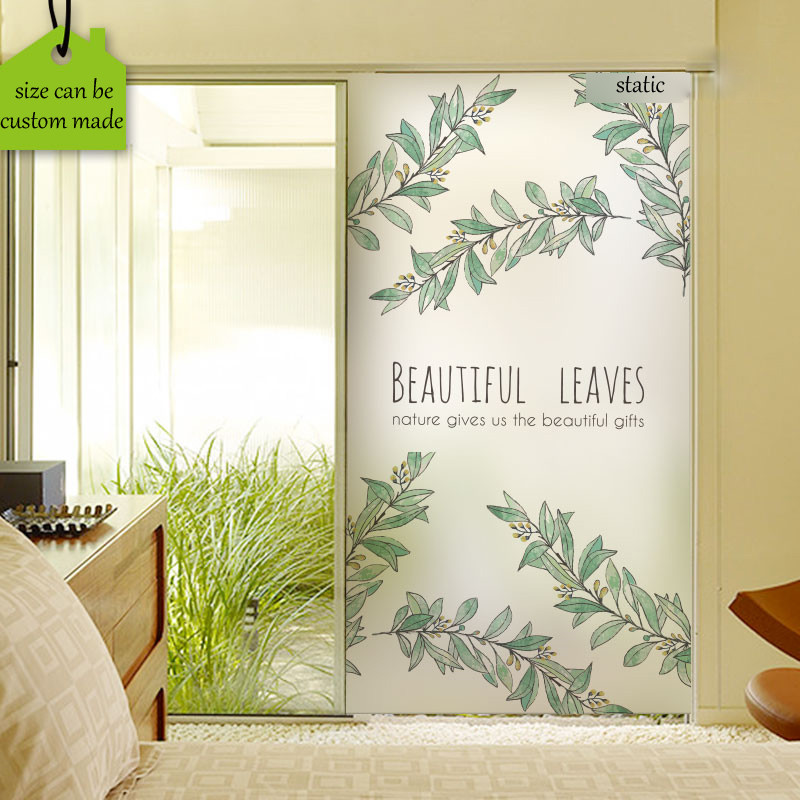 free custom size decorative stained window film frosted privacy glass stickers no glue static cling sliding door bathroom