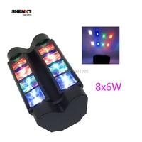 Mini LED Spider 8x6W RGBW Moving Head Light Strobe Stage Dj Disco Mini Spider Moving Head