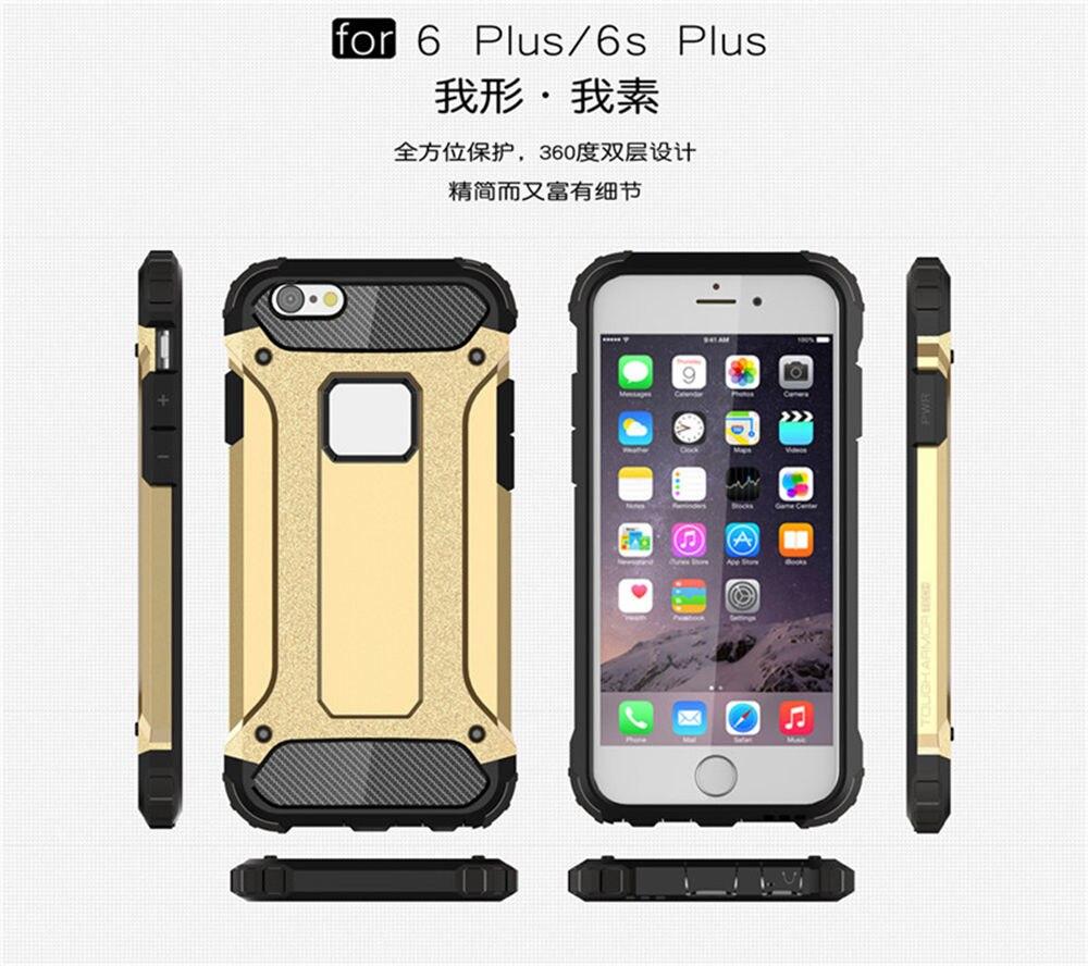 Броня ТПУ чехол для Apple iPhone 6/6 S Plus 5.5 кремния анти-шок Жесткий Защитная крышка телефона для меня Phone6 плюс 6 s + Встроенная дело