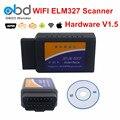 4 Цветов ELM327 WI-FI V1.5 Автомобиля Диагностический Сканер ELM 327 WI ФАНТАСТИЧЕСКИЕ Оборудования V1.5 Работы На IOS Android ПК Поддержка 9 OBDII протоколы