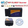 4 Colors ELM327 WIFI V1.5 Car Diagnostic Scanner ELM 327 WI FI Hardware V1.5 Work On IOS Android PC Support 9 OBDII Protocols