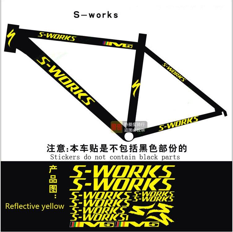 S works Bicycle Rack Stickers Road bike Mountain Bike Frame ...