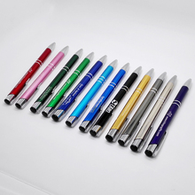 2015 first anniversary gifts  for school/office/restaurant chain logo pen wholesales free-shipping can refill