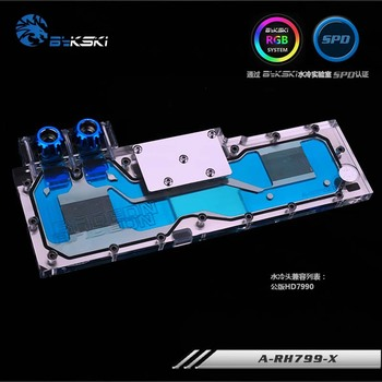 Bykski GPU Water Block for AMD Founder Edition HD7990 Full Cover Graphics Card water cooler