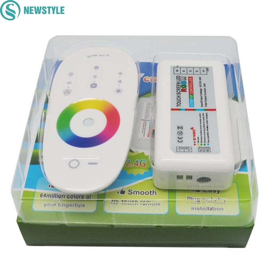 controle remoto rgbw rgb led touch screen 2 4g dc12 24v 18a para 5050 5630 rgb