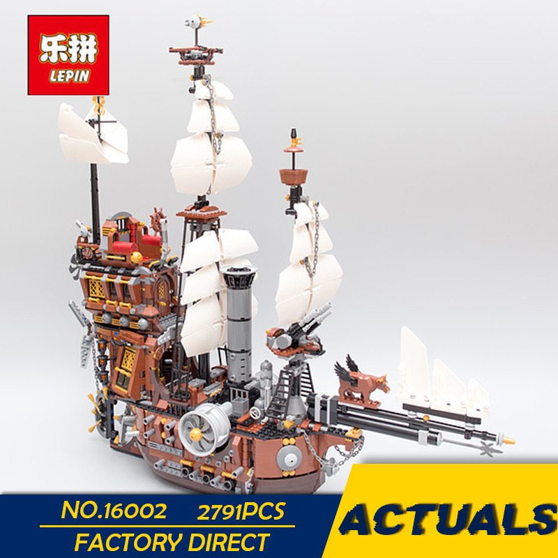 LEPIN 16002 2791PCS Modular Pirate Ship Metal Beard's Sea Cow Building Block Set Bricks Kits Set Toys Compatible 70810 16002 2791pcs pirate ship metal beard s sea cow set model building kits mini blocks compatible with 70810 toys lepin